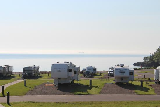 Burlington Bay Campground: view from our campsite