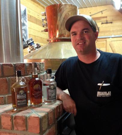 Benson, NC: Jeremy Norris, owner and master distiller at Broadslab Distillery