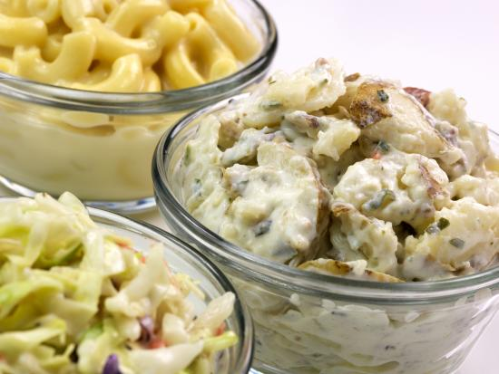 Potato Salad Mac And Cheese And Coleslaw Picture Of