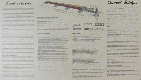 Notre-Dame-des-Pins, Canada: Descriptif de construction du pont