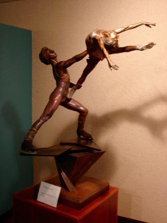 World Figure Skating Museum & Hall of Fame: evocative sculpture