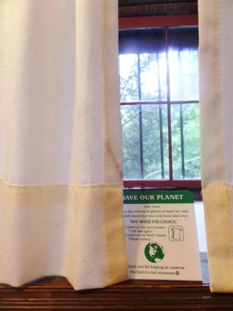 Whistler's Inn: dirty curtains