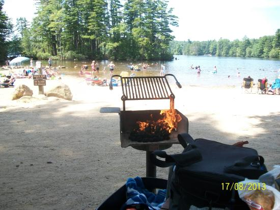 Pawtuckaway State Park Picnic Tables And Grills Close To Beach