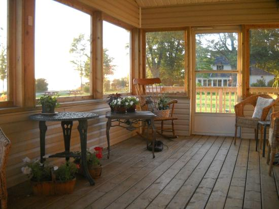 On Pelee Time: Lovely covered porch