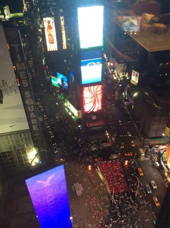 """Chilling in Times Square from """"my"""" room"""