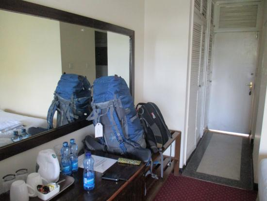 Kivi Milimani Hotel: room and my backpack