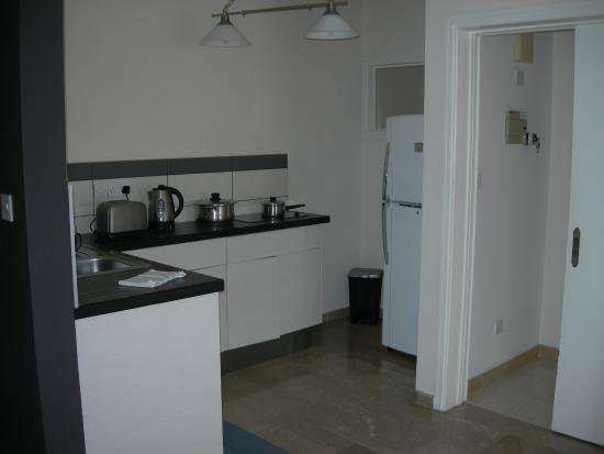 Vegas Hotel Apartments: кухня, она же зал с другой стороны
