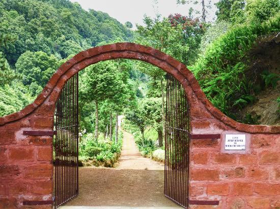 Nordeste, Portugal : The entrance of Jardim Botanica Da Ribeira Do Guilherme