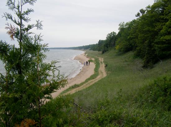 Whitefish Dunes State Park: along the lake shore
