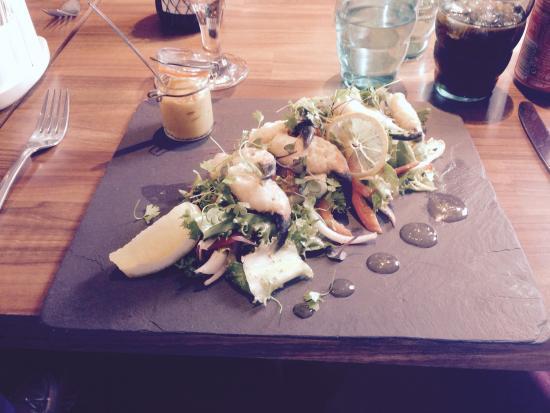 Greyabbey, UK: Tempura Crab Claw Salad