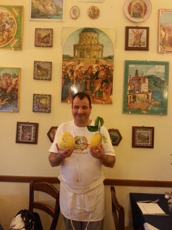 La Taverna di Masaniello: Our friendly waiter remembered us from our visit back in May 2011!  I took a photo of him again