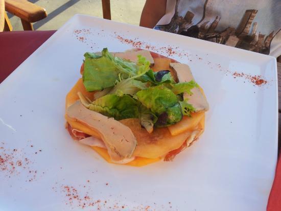 Fous De Bassin: Melon + foie gras en entrée