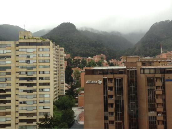 Hilton Bogota : view from room (front of the hotel)