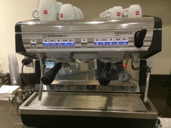 nuova simonelli espresso machine and illy coffee assures an authentic italian coffee experience. Black Bedroom Furniture Sets. Home Design Ideas