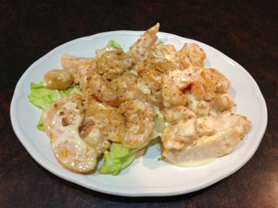 Devon, Kanada: Shrimp With Peach