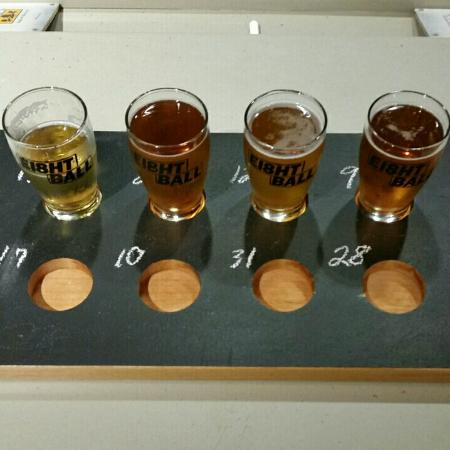 "Bellevue, KY: I ""pre-bought"" an 8-component flight but had only ordered the first 4 at this point"