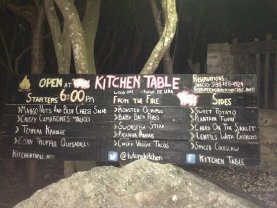 Photojpg Picture Of Kitchen Table Tulum TripAdvisor - Kitchen table tulum