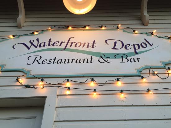 Waterfront Depot sign on building