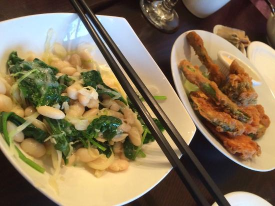 Roots: Do try the white beans and spinach dish!