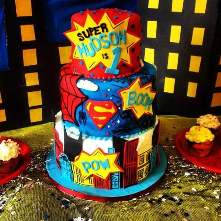 Nashville Sweets Superhero Birthday Cake