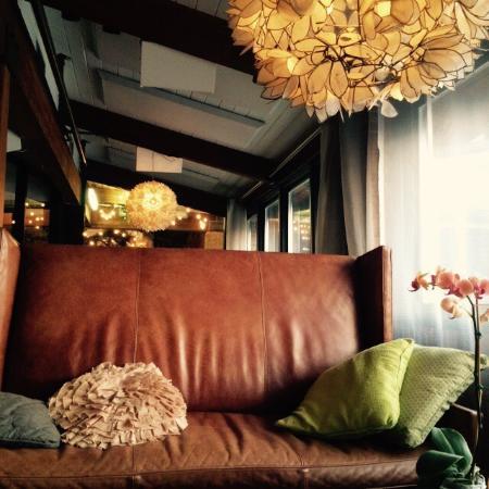 Cool decor and greet food