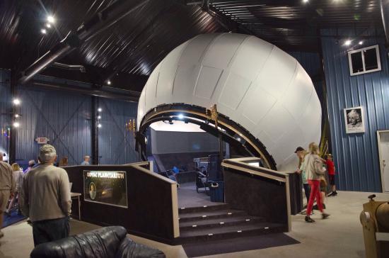 Kovac Planetarium : Planetarium dome inside the shed.
