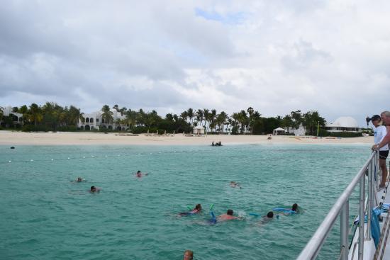 Simpson Bay, St-Martin/St Maarten: Swim stop in Anguilla