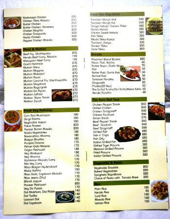 Menu Card Picture Of Pagoda Resorts Alleppey Alappuzha Tripadvisor