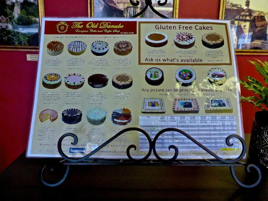 The Old Danube European Cake & Coffee Shop: Cakes you can order