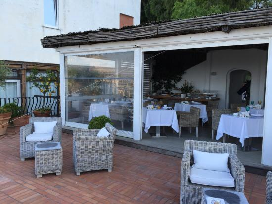 The breakfast terrace the perfect start to the day for Breakfast terrace