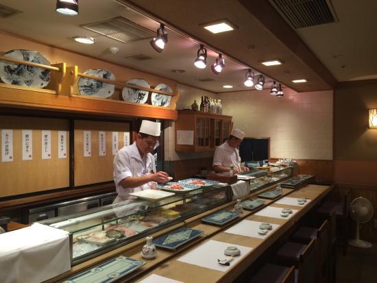 Sushi Taka Ebisu: Asahi Zushi Main shop Ebisu Garden Place Tower 38F