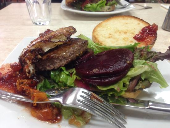 Cafe swish: Generous gluten free burger