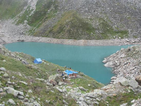Gopeshwar, India: Holy Satopanth Lake at the height of 15000 feet in the Badrinath Area in the Uttarakhand.