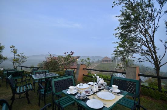 View from swimming pool picture of heritage resort coorg madikeri tripadvisor Hotels in coorg with swimming pool