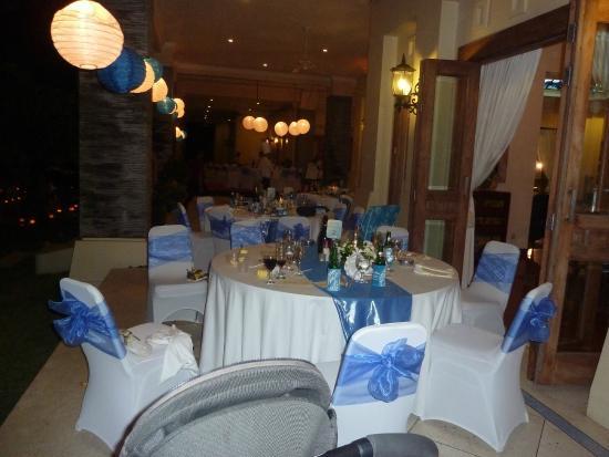 The Sahita Luxury Residence & Villa : Dinner decor at Terrace