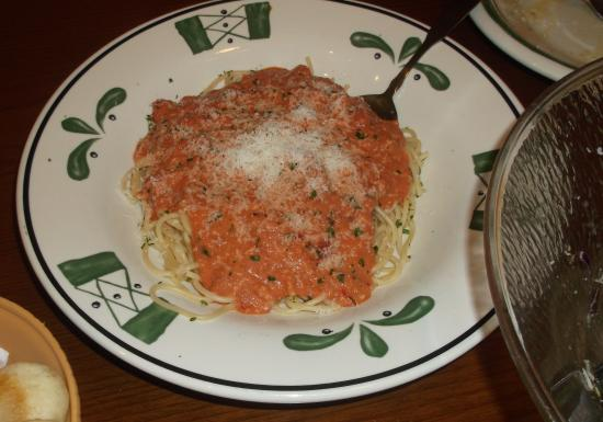 Spaghetti 5 Cheese Marinara Kuva Olive Garden Myrtle Beach Tripadvisor