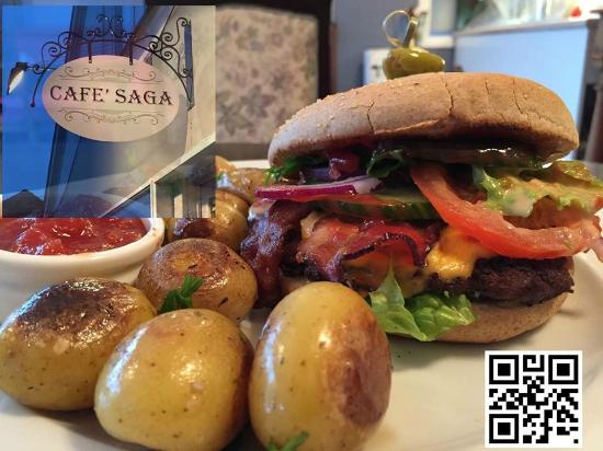 Cafe Burger - Bild från Cafe SAGA, Hobro - TripAdvisor