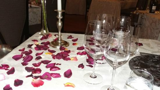 Grande Roche Hotel: Our specially laid out table at Bosman's