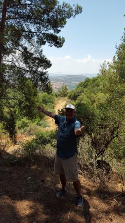 أون - بار جيستهاوس: Hiking on a trail from the cabins.