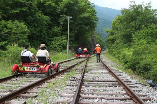 Jeongseon Rail Bike: Here we go ~