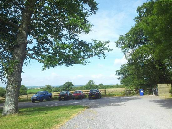 The Coppleridge Inn: the parking area