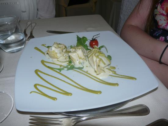 Cavalieri Palace: Ravioli with spinach and ricotta