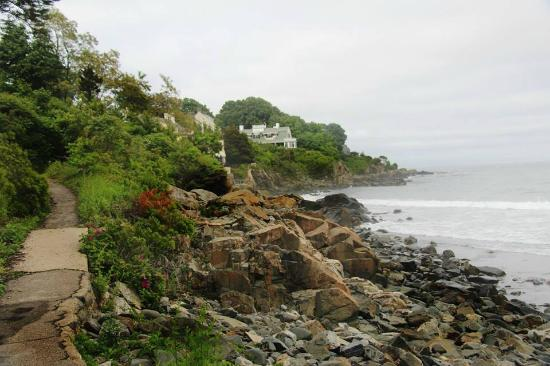 York Harbor, ME: A small portion of the cliff walk that is open - very small