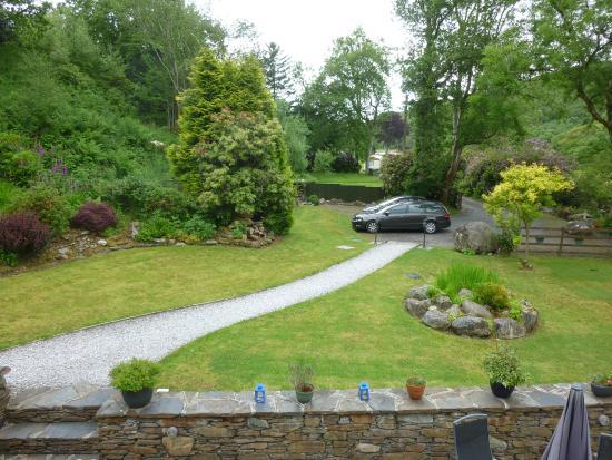 Pandy Isaf Country House Bed & Breakfast: Aussicht auf die Einfahrt