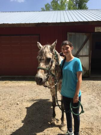 Chunky Gal Stables: My daughter and Ikey.