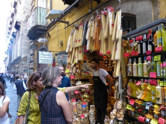 Market area in Napoli