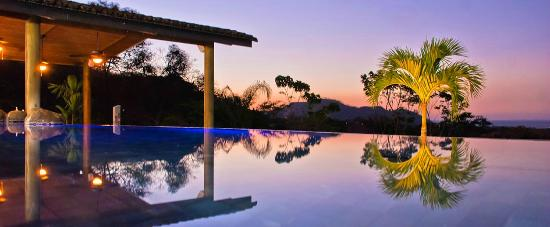 Villa Buena Onda: The Pool at Sunset