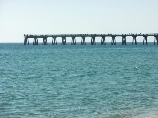 Beautiful day on navarre beach pier picture of navarre for Navarre beach fishing pier