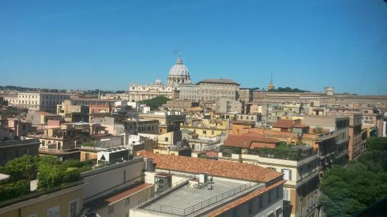 La Maison Royale: uitzicht vanaf het dakterras waar je lekker kunt ontbijten