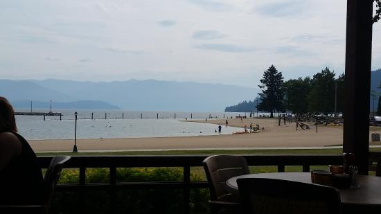 Sandpoint, ID: View from the Trinity restaurant that is co-located with the hotel